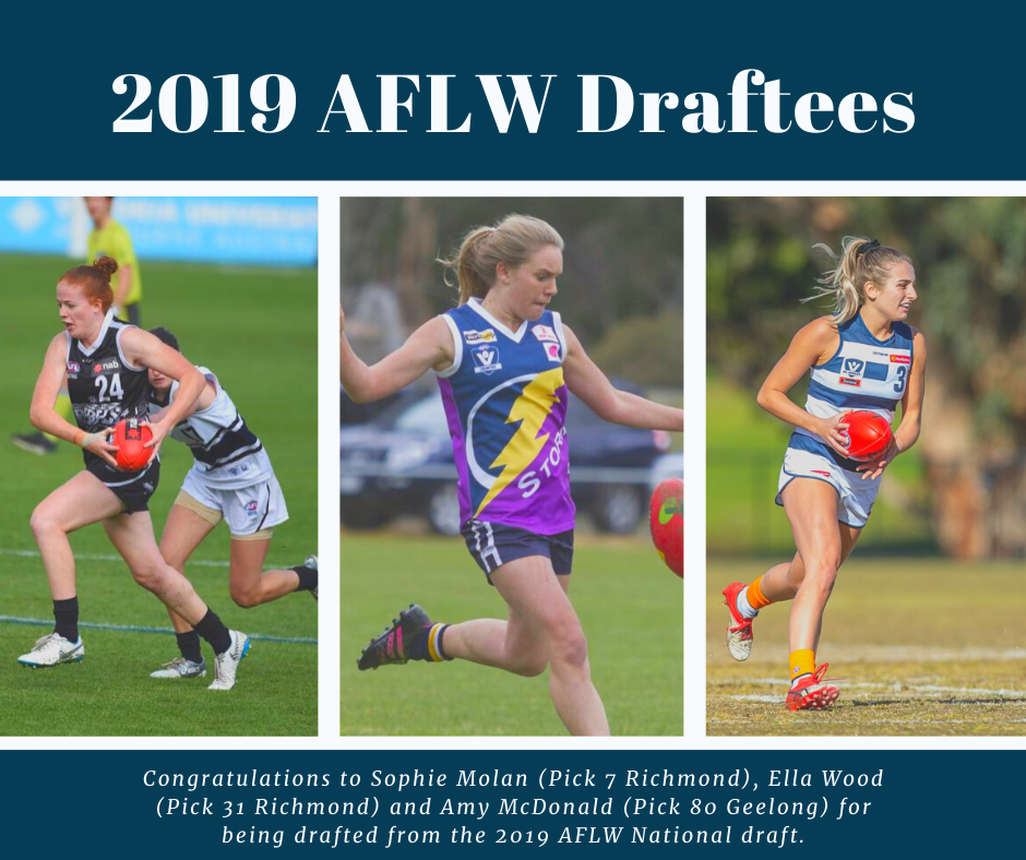 AFLW drafts three AFL Goldfields Female Footballers